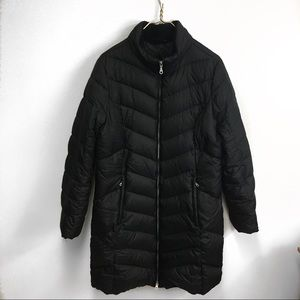 Eddie Bauer vintage long black parka jacket.